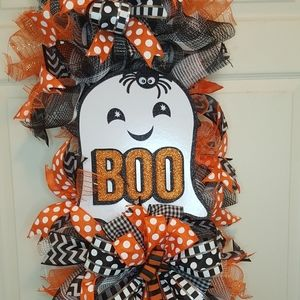 """Halloween """"BOO""""SWAG WREATH"""